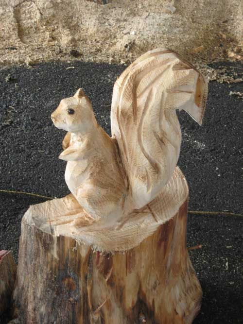 Chainsaw squirrel google zoeken carvings