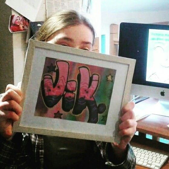 Victoria hard at work in the studio putting the finishing touches to her work. Victoria's illustrations will be on display in the open art space at the Coastguard Cultural Centre Tramore from the 29th of January to February 17th.