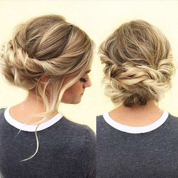 Elegant hairstyle for prom