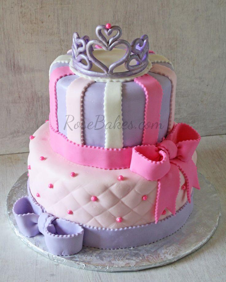 Pink and Purple Princess Tiara Cake