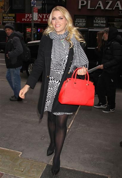 """Busy Philipps stops by NBC Studios for an appearance on the """"Today"""" show in New York City on March 10, 2014."""