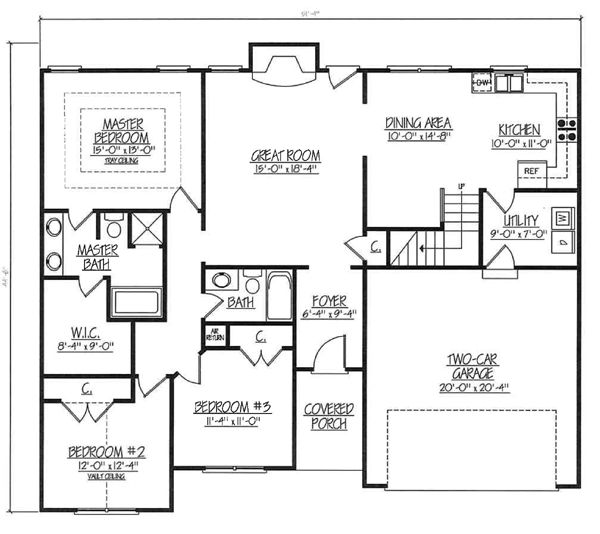 House Plans For 2000 Sq Ft Ranch In 2020 Ranch Style House Plans House Plans Ranch House Plans
