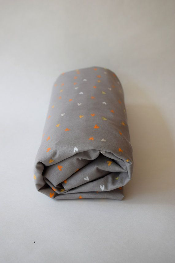 Fitted cotton sheet for toddler bed  by ApplesauceAndKetchup