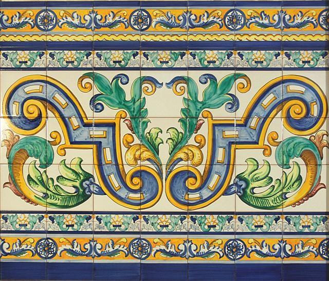 Mejores 25 im genes de azulejos y zocalos en pinterest for Cenefas ceramica