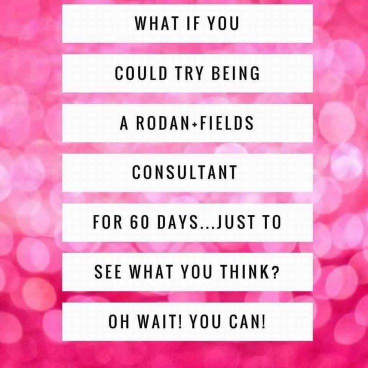 Did you know that Rodan + Fields has a 60 day money back guarantee on products AND our business? You are partnering with the ProActiv doctors and our doctors want you to SUCCEED! Why not start a virtual business and give it a try?! If you've been watching from the sidelines and want to know more, message me and let's chat!