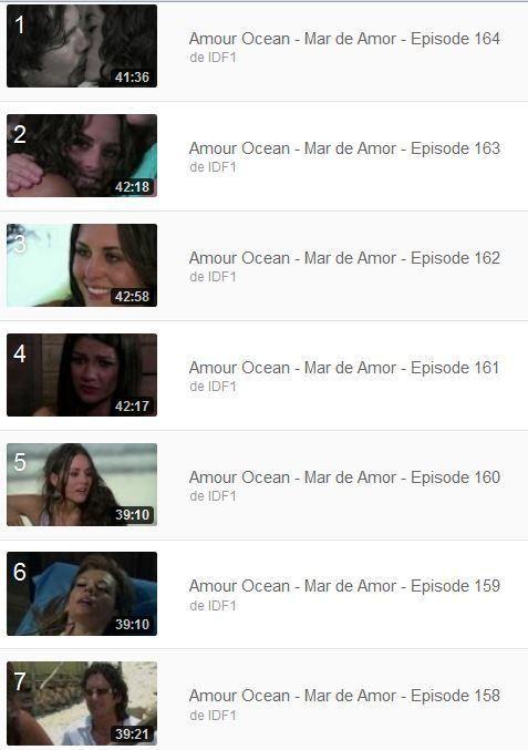 Amour Ocean - Mar de Amor - Episodes 1 + 100 à 164 en streaming en intégralité (telenovelas)