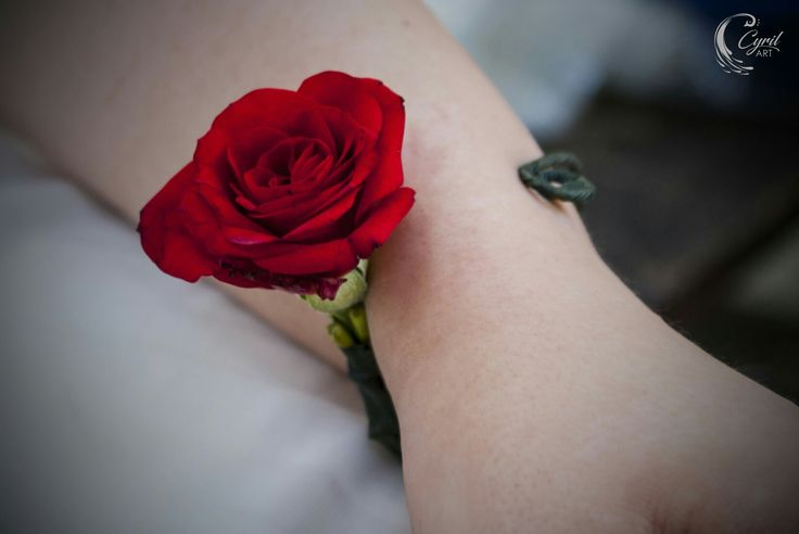 Red rose from wedding