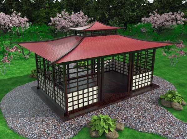 17 best images about gazebo ideas on pinterest japanese for Japanese style gazebo plans