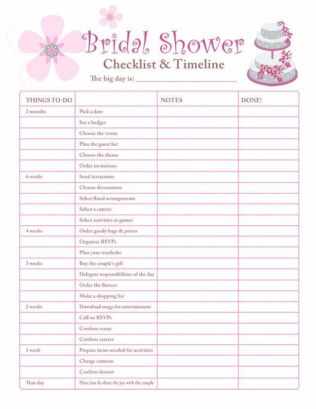 10 printable checklists that will organize you in no time our wedding 5314