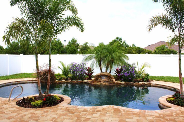 Pool landscape small yard