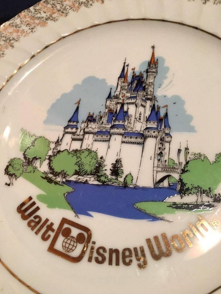 Walt Disney World Cinderella Castle Collector Plate Dish, Made In Japan  | eBay