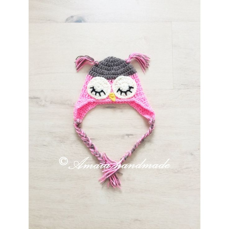 Owl hat, Crochet owl hat, baby girl owl hat, baby owl hat, newborn owl hat, crochet baby hat, baby beanie, baby girl hat, baby animal hat by Amaiahandmade on Etsy