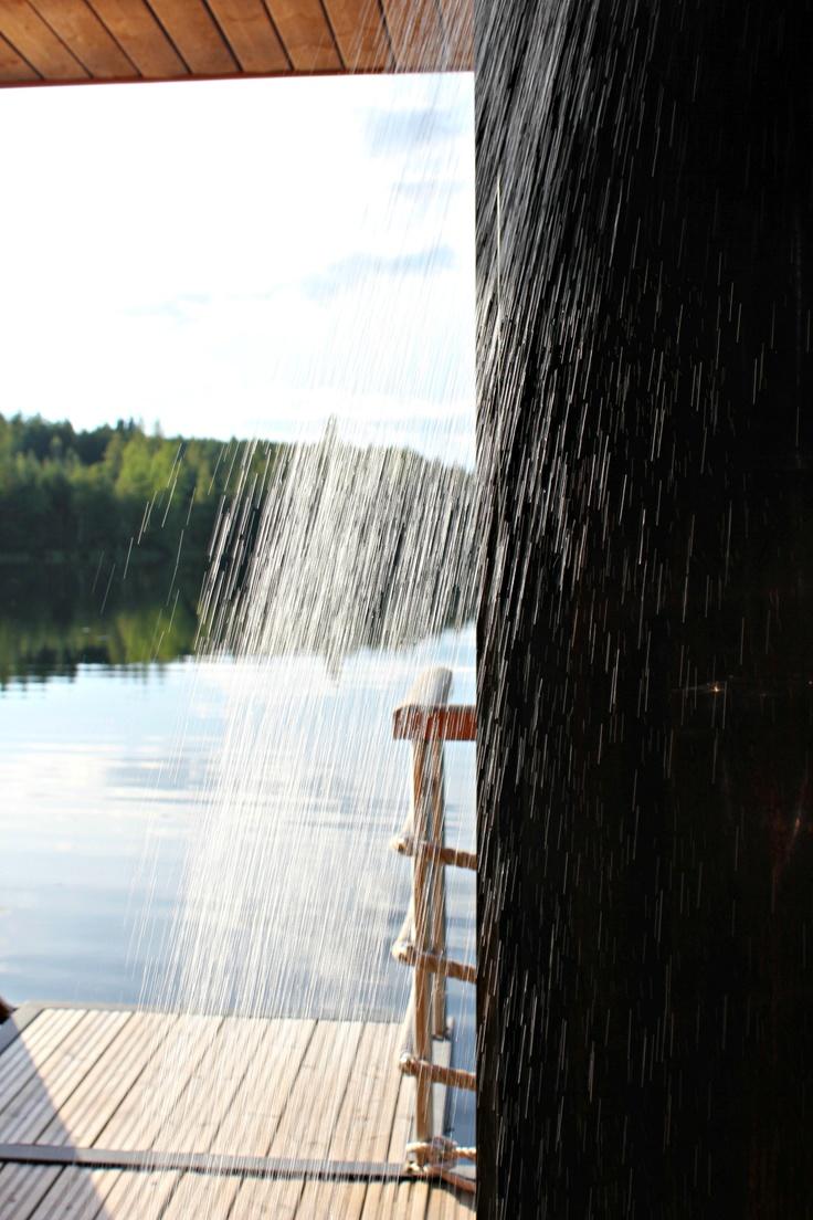 #sauna #shower #finland #summer
