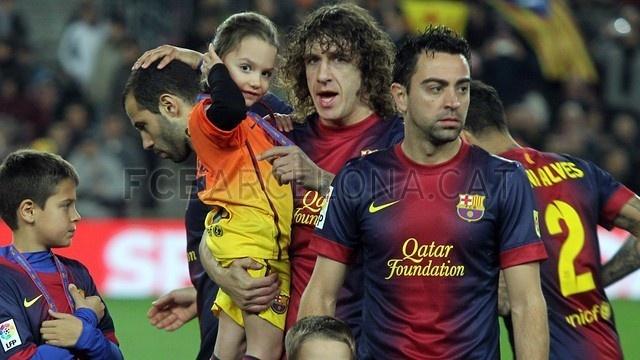 Carles Puyol & Xavi Hernández, FC Barcelona | FC Barcelona 5-1 Osasuna | 2013-01-27.