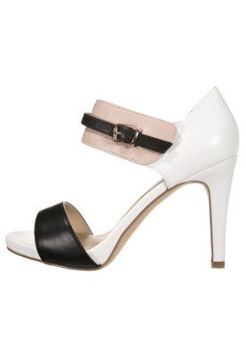 Sandali con i tacchi - black/white/beige