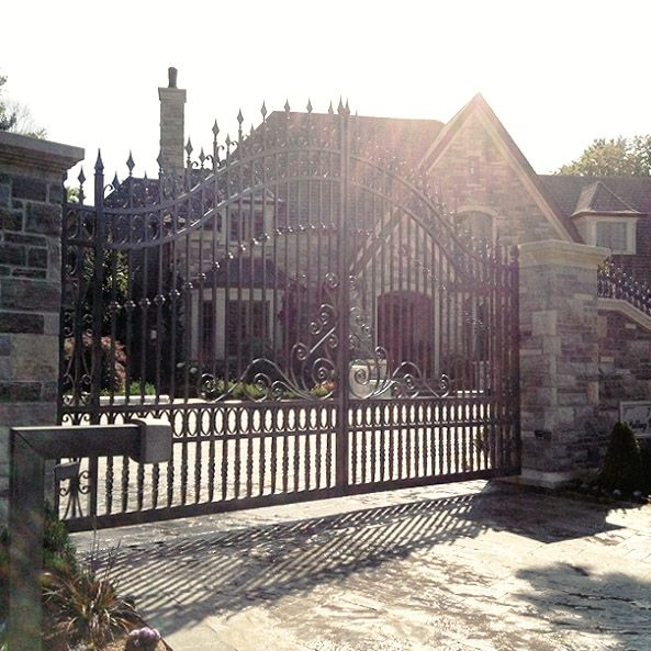 Residential Iron Swing Gate #Residential #SwingGate #AutomatedGates #Iron