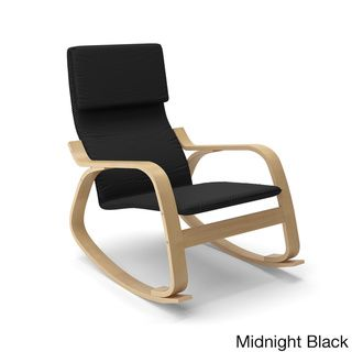 @Overstock - CorLiving Aquios Bentwood Contemporary Rocking Chair - The Aquios Bentwood rocking chair features a sleek contemporary design with mid-century modern appeal. Crafted of solid wood with a plush upholstered seat and back support, this versatile chair offers minimalist design to complement any living space.   http://www.overstock.com/Home-Garden/CorLiving-Aquios-Bentwood-Contemporary-Rocking-Chair/9087092/product.html?CID=214117 Add to cart to see special price