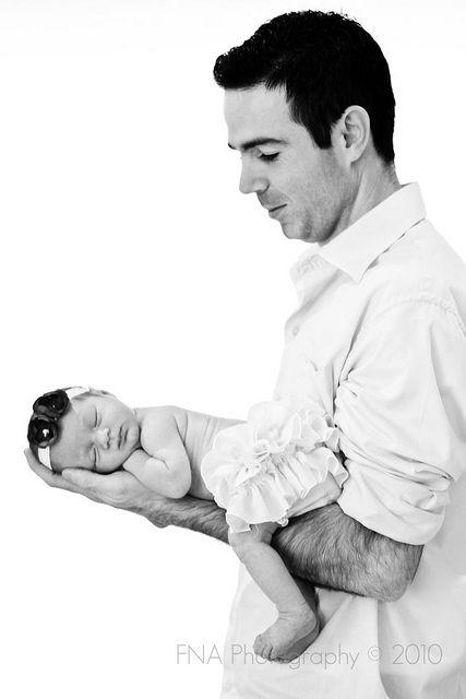 Newborn - Father/Daughter - Northern Virginia Photographer http://jillsamterphoto.com