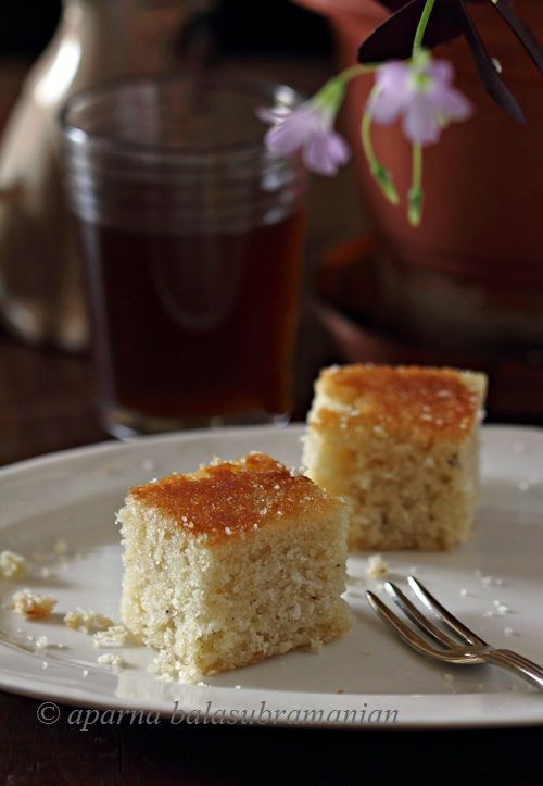 My Diverse Kitchen: A Week Of An Indian Christmas – Day #3 : Baath Cake/ Baatica/ Batega (Goan Coconut And Semolina Cake)