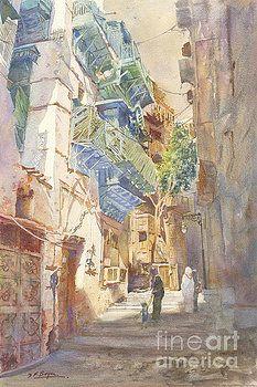 Peaceful Corner Jeddah Souq by Dorothy Boyer
