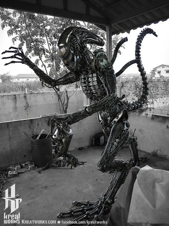 Recycled Metal Brutal Monster by Kreatworks on Etsy, $7400.00
