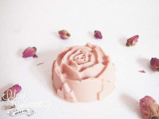 Face Soap: Rose Cream Clay $7.39AUD  A gentle cleansing and moisturising handmade facial soap for dry skin, containing frankincense and myrrh for their divine anti aging properties. Restore moisture to your skin with organic vitamin E and natural creamy glycerin.