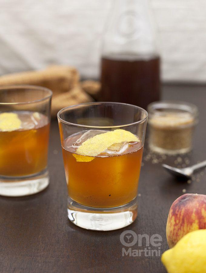peach bourbon iced tea