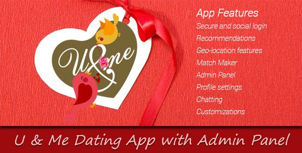 codecanyon you and me dating app with admin panel