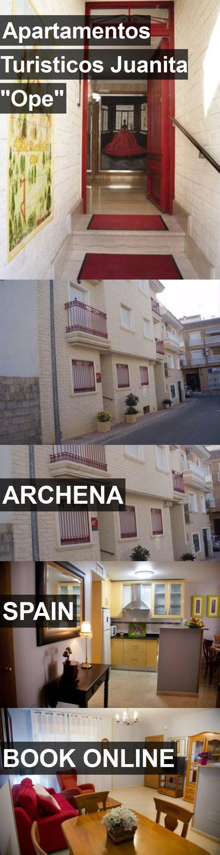 """Hotel Apartamentos Turisticos Juanita """"Ope"""" in Archena, Spain. For more information, photos, reviews and best prices please follow the link. #Spain #Archena #ApartamentosTuristicosJuanita""""Ope"""" #hotel #travel #vacation"""