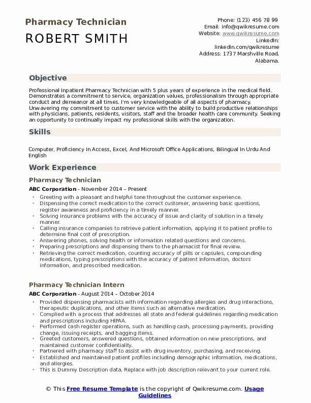 Resume For Pharmacy Tech Luxury Pharmacy Technician Resume Samples In 2020 Resume Examples Resume Mechanical Engineer Resume