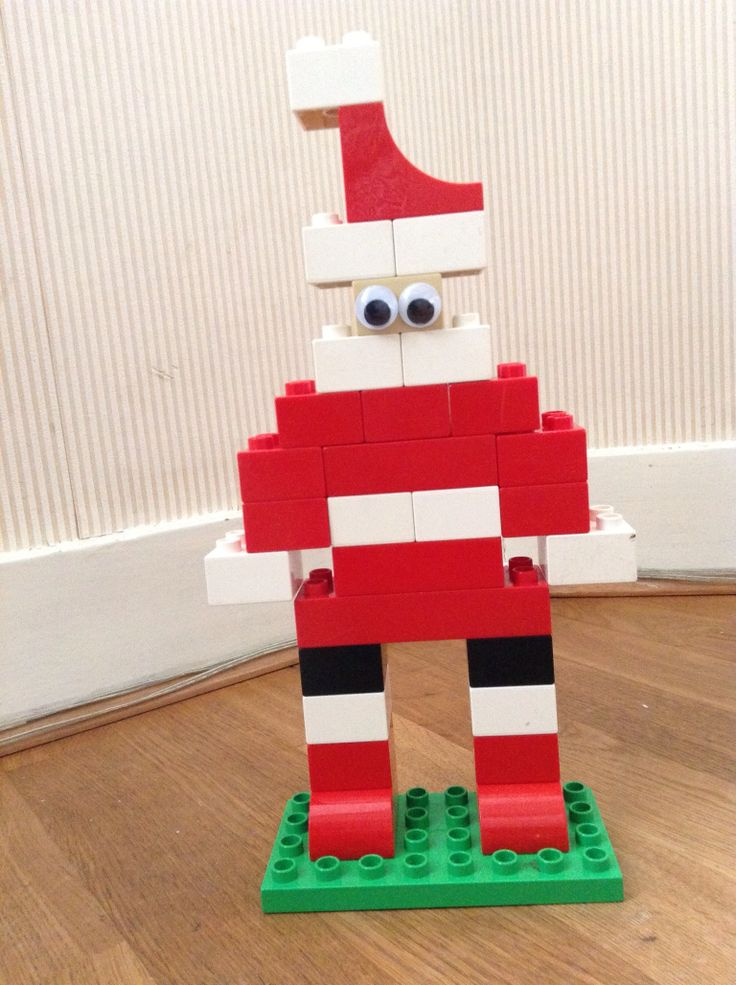 Santa Claus Duplo with googly eyes