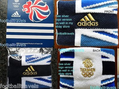 *GOLD* ADIDAS TEAM GB LONDON 2012 OLYMPICS WRISTBAND Sweatband Great Britain