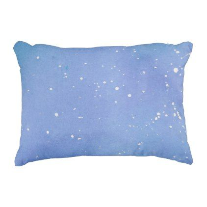 Blue Marble Watercolour Splat Decorative Pillow - marble gifts style stylish nature unique personalize