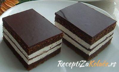 Kinder torta http://www.receptizakolace.rs/kolaci-recepti/komadni-kolaci-recepti/153-kinder-kolac