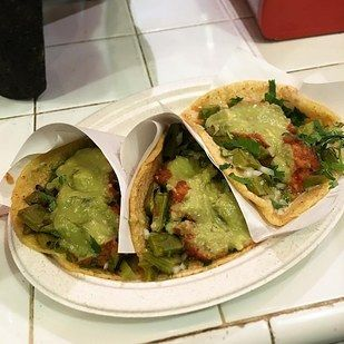 The Nopales (Cactus) Tacos from Los Tacos No. • 15 Things You Need To Eat In NYC If You're Vegetarian