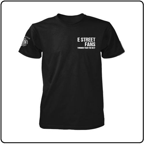 2nd Edition E Street Fans T-Shirts (all profits to Light Of Day Foundation) are available NOW from https://www.backstreetmerch.com/search?search=e+street+fans For all fans of Bruce Springsteen and the E Street Band, and supporters of Light of Day Foundation - Let's fight Parkinsons