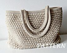 Crochet Pattern Crochet Bag modello Tote Pattern uncinetto borsa donna borsa, shopping bag, borsa da spiaggia estate borsa, borsa, borsa a tracolla crochet