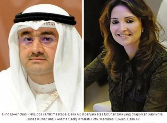 Bos Cantik Maskapai Penerbangan Milik Istri Dubes Kuwait Dipenjara karena Berzina
