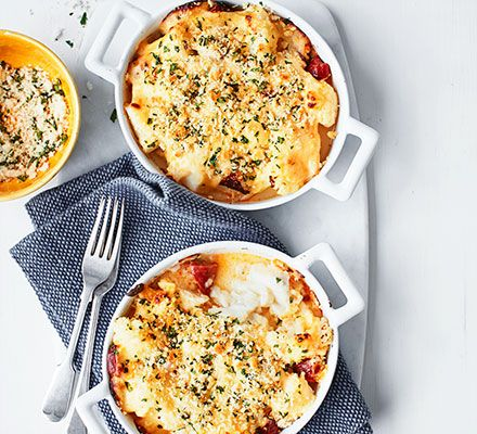 A comforting fish bake with a buttery cheese sauce that will warm you up on the coldest of evenings