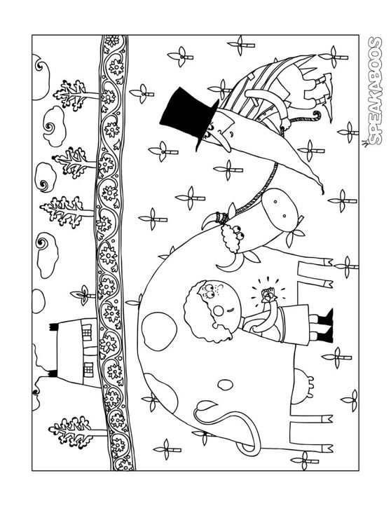 Coloring Pages: Jack and the Beanstalk | Speakaboos Worksheets