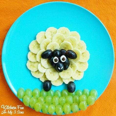 Wenn Sie Obst für Kinder arrangieren, wird der Teller leer gegessen.   – Kind Essen