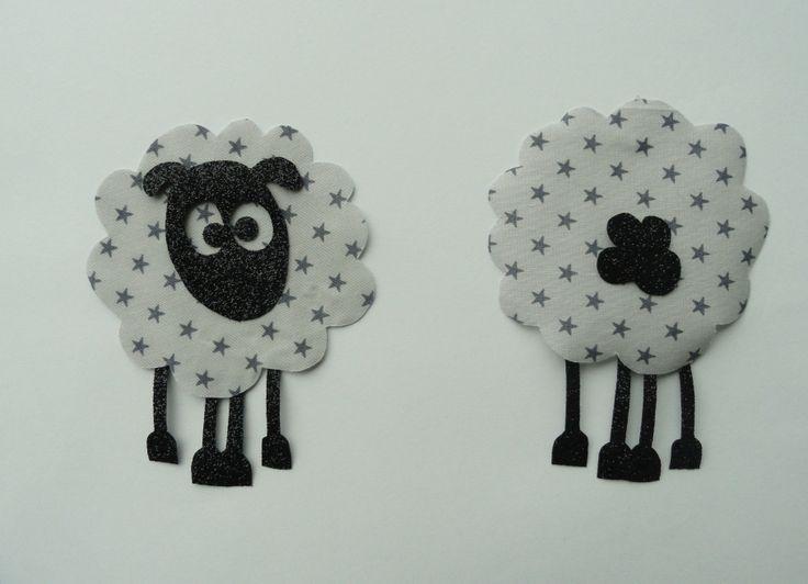 Appliqué thermocollant Le mouton qui louche : Autres pièces pour créations par comme-un-poeme