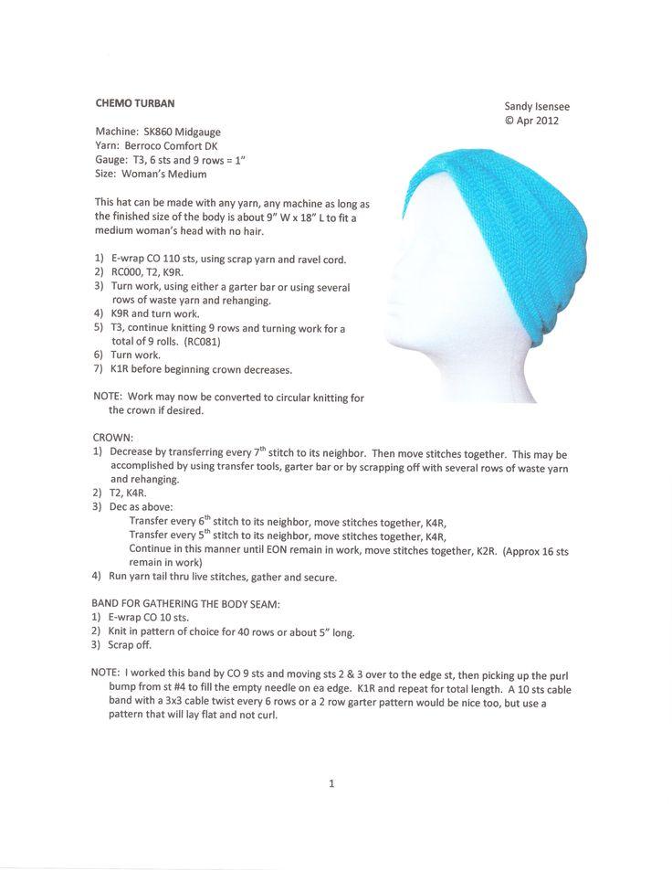 Chemo turban Pattern