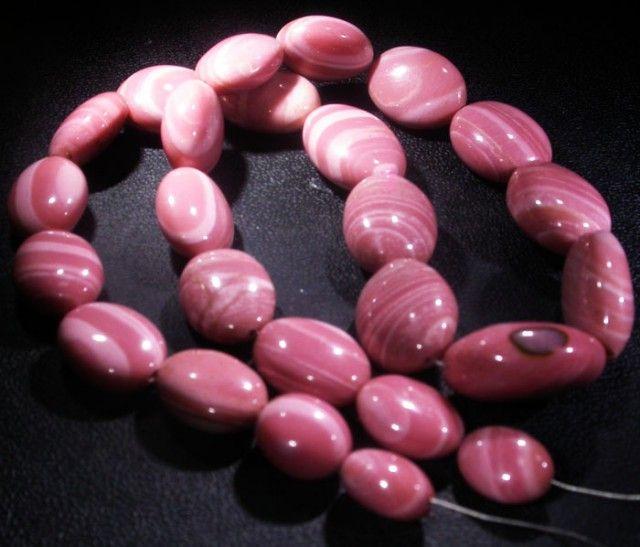 368.7 CTS PINK OPAL BEAD STRAND -TOP POLISH! [VS6774]SH pink opal, opal beads, opal beads, opal necklaces