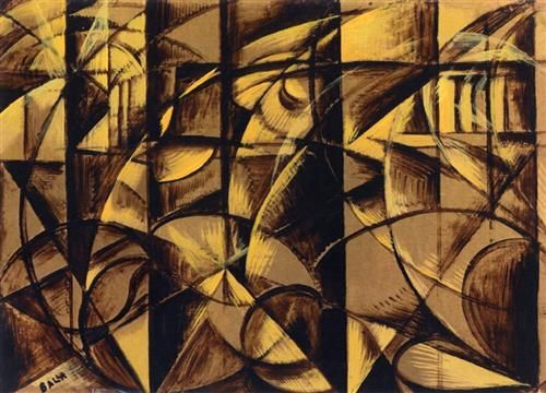 The Speed of an Autumobile  - Giacomo Balla