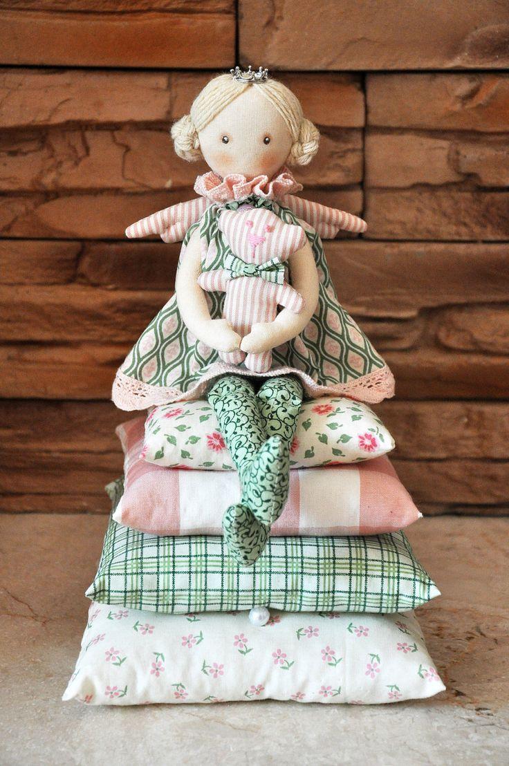 Princess on the Pea, cloth doll, , handmade doll, art doll, handmade doll , fabric doll, soft doll, rag doll by Neonila1 on Etsy https://www.etsy.com/listing/230329763/princess-on-the-pea-cloth-doll-handmade