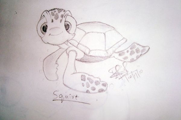 Finding Nemo drawing Squirt