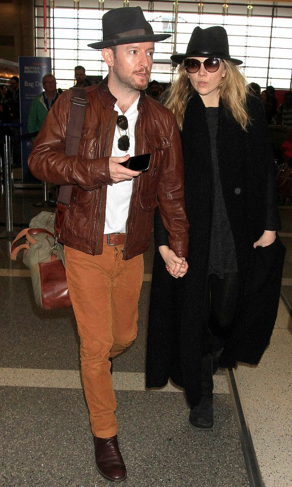 Natalie Dormer and boyfriend Anthony Byrne catch a flight out of LAX on Monday.