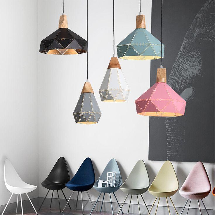 New Nordic Iron Pendant Lights Macaron lamp for Restaurant /Bar/Coffee Shop Home Lighting Luminarias-in Pendant Lights from Lights & Lighting on Aliexpress.com | Alibaba Group