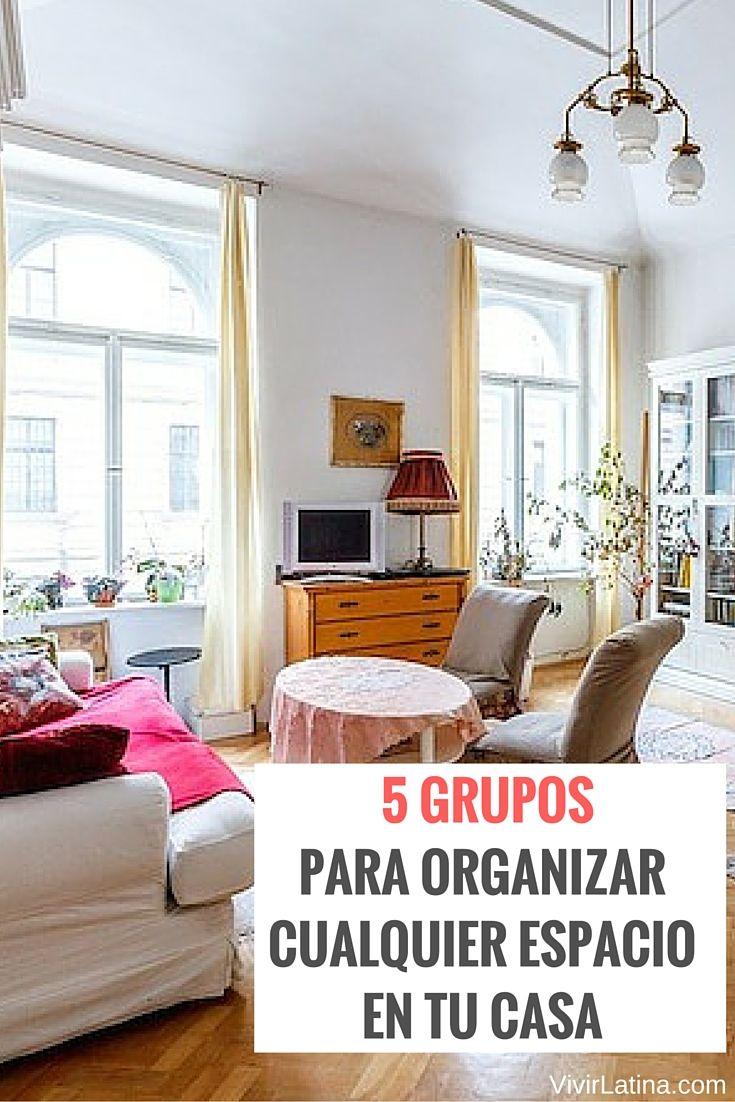 Solo necesitas 5 grupos para organizar cualquier espacio en tu casa. Aquí te contamos cómo puedes organizar rápido tu hogar.
